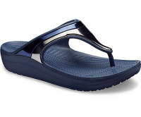 Женские сандалии Crocs Sloane Metal Block Flip W Multi/Navy 205357- 4JD оптом