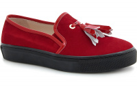Мокасины Las Espadrillas Red Slipons 03534-473 (красный) оптом