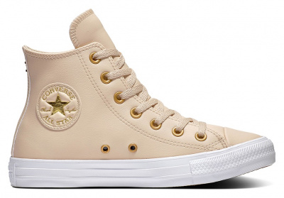 Женские кеды Converse Chuck Taylor All Star Go Gold Leather Hi 568660C оптом