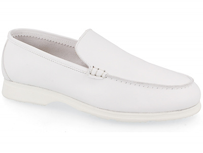 Женские мокасины Las Espadrillas Soft Leather 417-13 Optical White оптом