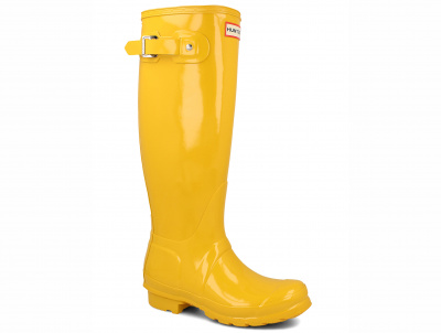 Женские сапоги Hunter Women's Original Tall Gloss Yellow WFT1000RGL