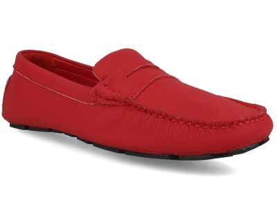 Мужские мокасины Forester RED Leather Tods 5103-47 оптом