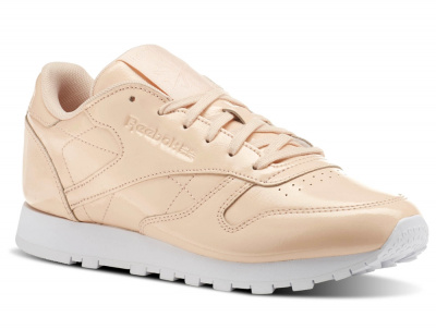 Кроссовки Reebok Classic Leather Patent Desert Dust/White cn0771