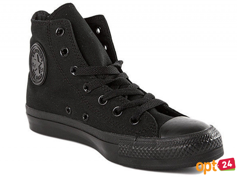 Купить оптом Кеды Converse Chuck Taylor All Star Core Hi Black Monochrome M3310 унисекс   (чёрный) - Изображение 2
