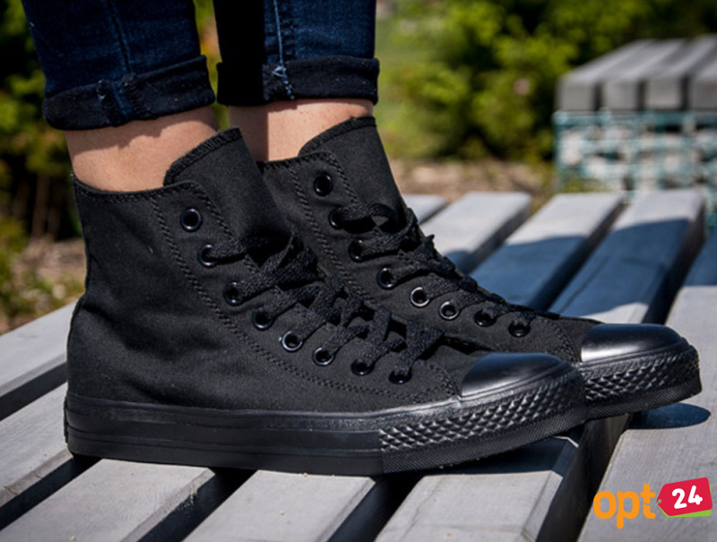 Купить оптом Кеды Converse Chuck Taylor All Star Core Hi Black Monochrome M3310 унисекс   (чёрный) - Изображение 10