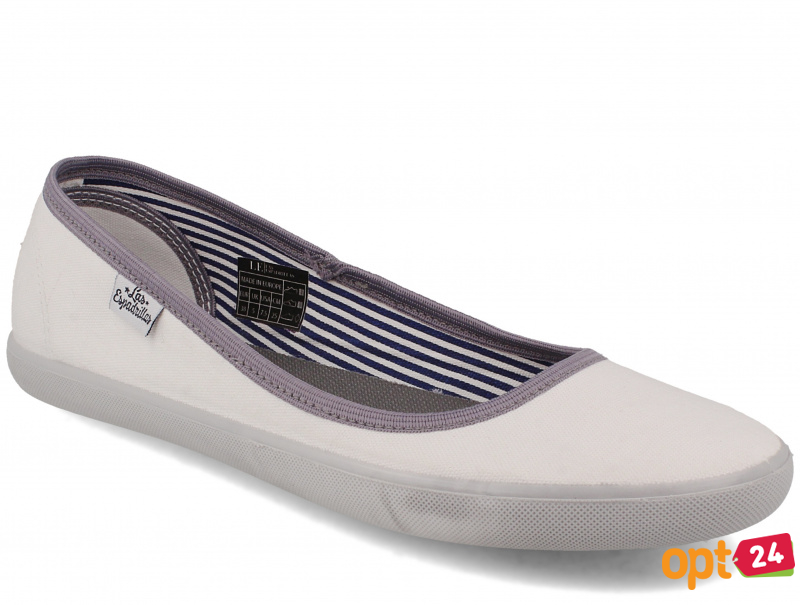 Женские балетки Las Espadrillas Eco Soft LE2203-1337 Lacoste Slim White оптом