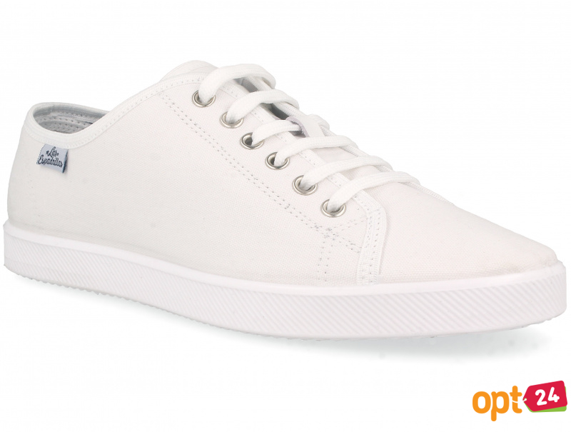 Белые кеды Las Espadrillas All White 6099-1313