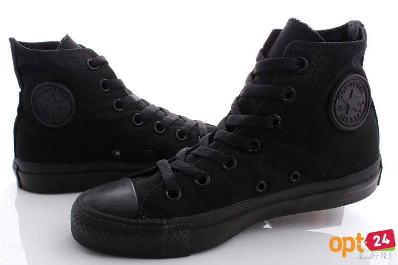 Купить оптом Кеды Converse Chuck Taylor All Star Core Hi Black Monochrome M3310 унисекс   (чёрный) - Изображение 5