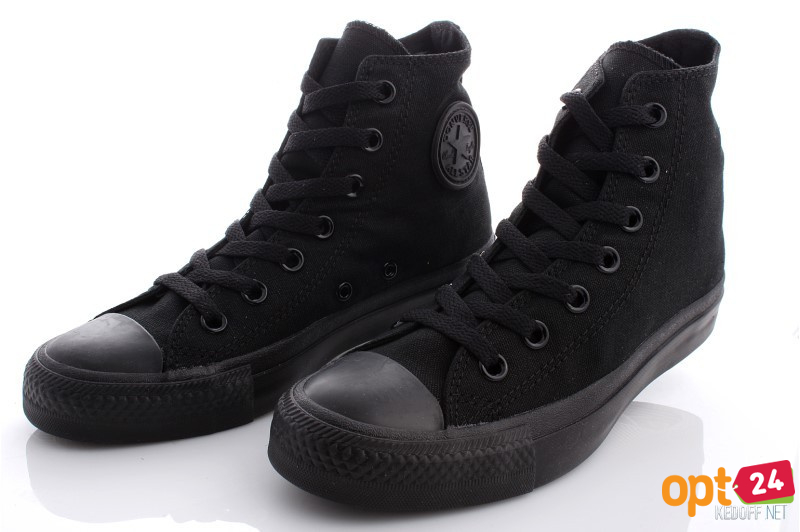Купить оптом Кеды Converse Chuck Taylor All Star Core Hi Black Monochrome M3310 унисекс   (чёрный) - Изображение 7