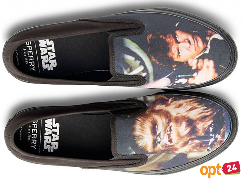 Слипоны Sperry Cloud Slip On Han & Chewie Sneaker SP-17650 Star Wars унисекс   (чёрный)